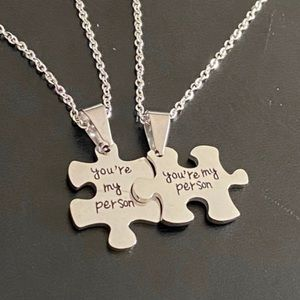"""""""You're My Person"""" Stainless Steel Necklace Set"""